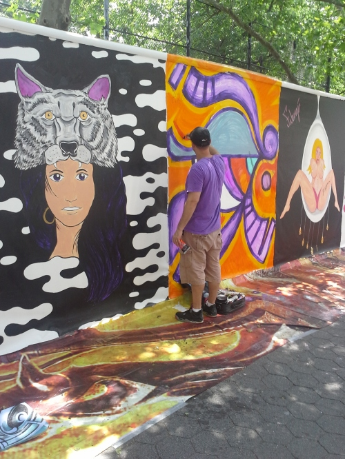 Lots of painters making art at Tompkins Square Park on Sunday morning.