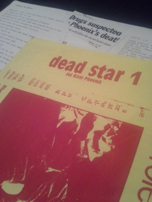 The first issue of Dead Star (for River). Notice the original layout underneath.