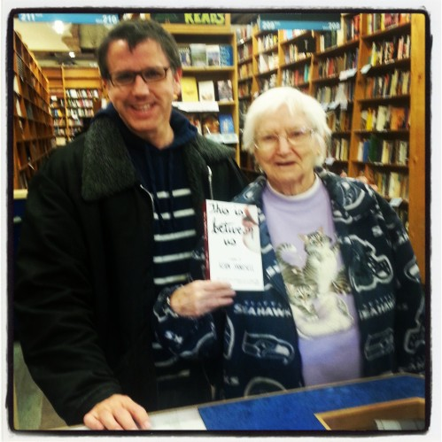My mom and me at Powell's this past week.