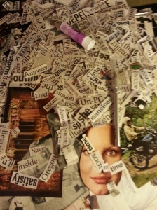 Giant stack of words (and a few images) that I use for my collages.