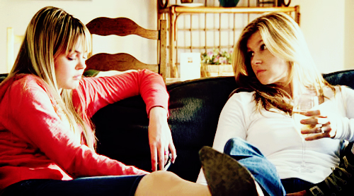 Aimee Teegarden and Connie Britton in Friday Night Lights