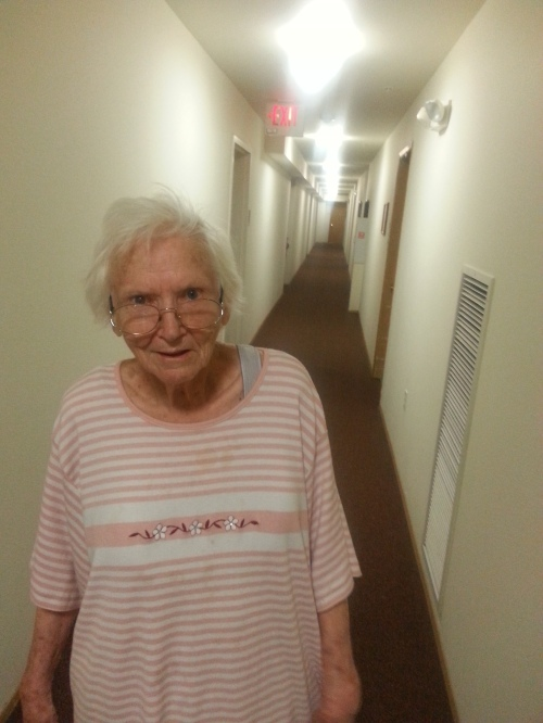 Mom in her Hallway2017