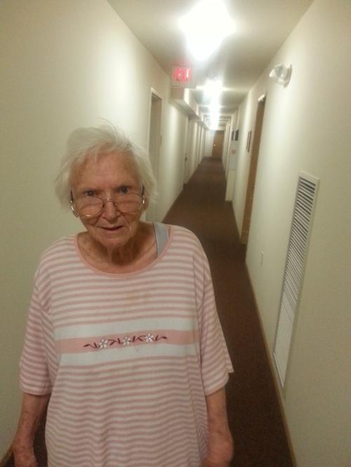 Mom in her Hallway2017