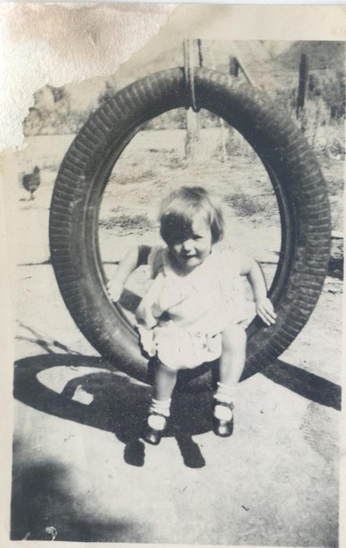 Patsy on Tire